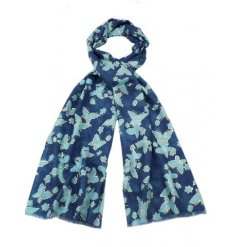 A stylish assortment of 3 butterfly themed scarves