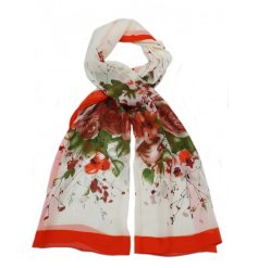 An assortment of 4 pretty floral scarves with an abstract watercolour style design. A pretty seasonal fashion item
