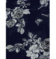 A mix of 2 navy and white floral rose scarves. A pretty gift item and timeless fashion accessory.