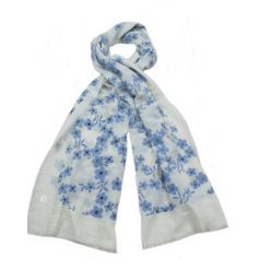 An assortment of pretty floral flower scarves in Spring colours.