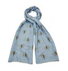 A mix of 3 pretty scarves, each with a colourful tree of life design. A chic fashion accessory and gift item.