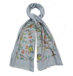 A mix of 4 colourful bird design scarves. A pretty item for the Spring and Summer season.
