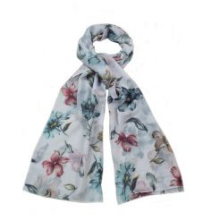 An assortment of pretty floral scarves in a mix of popular colours. The perfect way to smarten up any outfit this season
