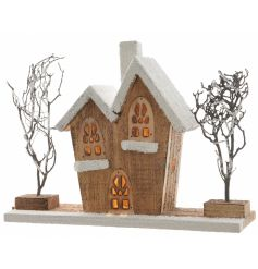 Add this quirky old rickety cottage to your christmas town scenes for a fun added look