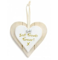 Double Heart Best Friends Forever Hanging Decoration