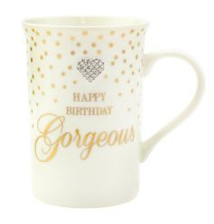 Complete with its well known gold polka dots and script writing, this mug will be the perfect gift for any birthday