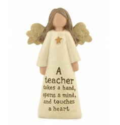 A small resin angel ornament gift for teacher