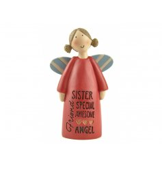 A special sister resin angel ornaments