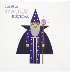 Have a magical Birthday with this contemporary graphic design coloured card. Perfect for all ages.