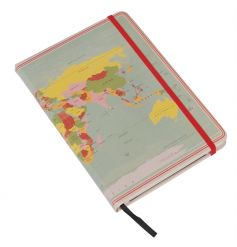 A fine quality world map design travel notebook. A great gift item!