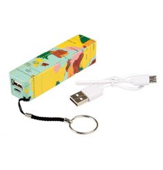 Stay connected whilst on the go with this vintage travel themed portable charger.