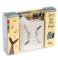 Jerry can shaped stainless steel hip flask in a Modern Man presentation box.