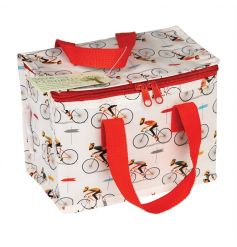 This super cool Le Bicycle design lunch bag is made from recycled plastic bottles and has a zip fastening and woven nylo