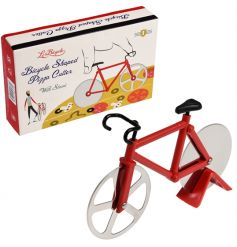 A unique gift item! This bicycle shaped pizza cutter with stand is from the popular Le Bicycle range.