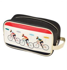 A stylish Le Bicycle design wash bag with 2 internal pockets and a zip closure. A great, practical gift item!