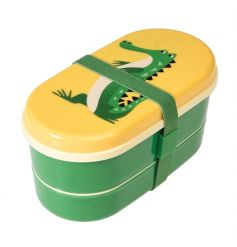This cute two tier crocodile design bento box from the Colourful Creatures range