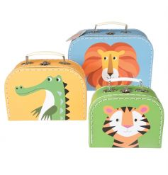 Stay organised with this set of 3 carry cases in the popular Colourful Creatures design.