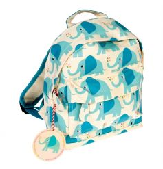 A fun and funky oilcloth mini backpack with Elvis the Elephant design. Perfect for little ones on the go!