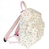 A mini children's backpack in the pretty and popular La Petite Rose design. Ideal for school, days out, picnics and more