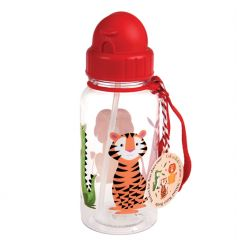A cute and practical Colourful Creatures children's water bottle with in-built straw.