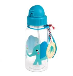 A fabulous Elvis the Elephant children's water bottle with built in straw. Perfect for when you're on the go!