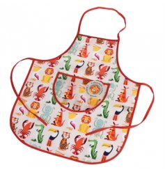 Let the kids get messy with this fun Colourful Creatures children's apron.