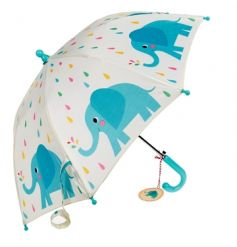 A funky Elvis the Elephant design children's umbrella. A must have to keep your little ones dry!