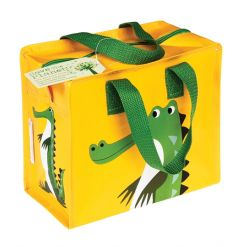 A colourful and practical crocodile design storage/lunch bag from the popular Colourful Creatures range.