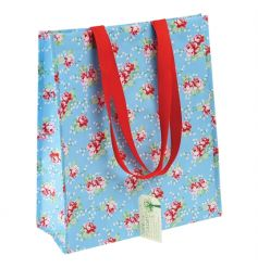 A vintage English rose style super shopper bag, made from recycled plastic bottles.