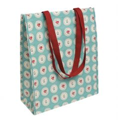An eco-friendly vintage style floral shopping bag.