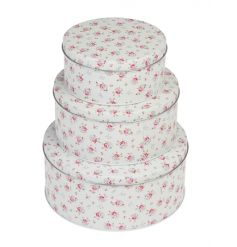 A set of 3 metal cake tins in the popular La Petite Rose design. A gorgeous kitchen item for your home baking treats!