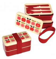 A stylish, practical and unique Bento lunch box in the popular Vintage Apple design.
