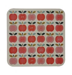 A stylish and contemporary red apple placemat from the popular Vintage Apple range.