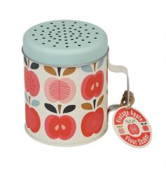 Add those finishing touches to home baked goods with this chic Vintage Apple design flour shaker.