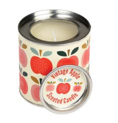 A beautiful apple scented candle set within a metal tin with our popular Vintage Apple design.