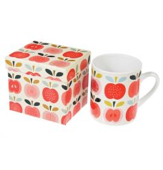 A stylish porcelain mug printed with the popular Vintage Apple design. Comes in a fine quality gift box.