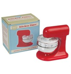 A fabulous vintage inspired red food mixer timer. The ideal way to make perfect eggs and bakes!