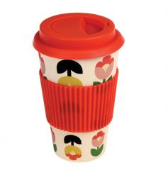 Made from bamboo fibre, this eco-friendly coffee cup in the popular and colourful Tulip Bloom design