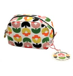 A pretty and practical oil cloth make up bag in the popular Tulip Bloom design.