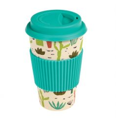 This biodegradable travel cup comes printed with our on trend cactus and succulents design.