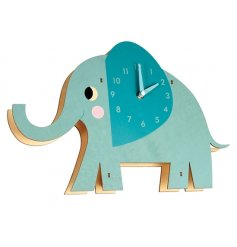 A colourful and cute Elvis the Elephant wall clock. A fabulous interior decor item for the home.