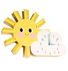 Smile every morning with this colourful and cute sunshine clock!