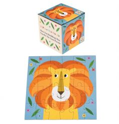 A mini 24 piece puzzle in a box featuring Charlie the Lion design. A lovely stocking filler and gift item.