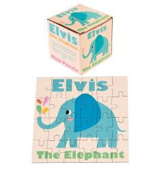 A mini 24 piece puzzle in a box featuring Elvis the Elephant design. A lovely stocking filler and gift item.