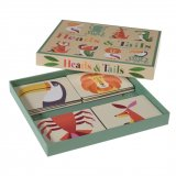 This mix and match heads and tails game in the fun Colourful Creatures design is perfect for helping little ones learn