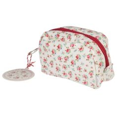 A pretty and practical oil cloth make up bag in the popular La Petite Rose design. Complete with inner pouch.