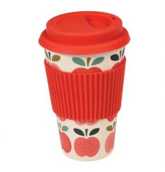 This biodegradable travel cup comes printed with our popular Vintage Apple design.