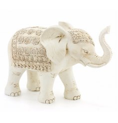 A beautiful resin elephant finished with little added details