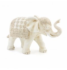 Cream White Elephant  A beautiful resin elephant finished with little added details