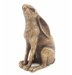 A stunning sitting bronzed hare ornament from the popular Bronzed Reflections range.